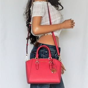 Michael Kors Ciara M Messenger Bag Electric Pink